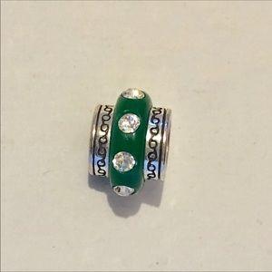 🆕Listing! Brighton dark green bead with crystals